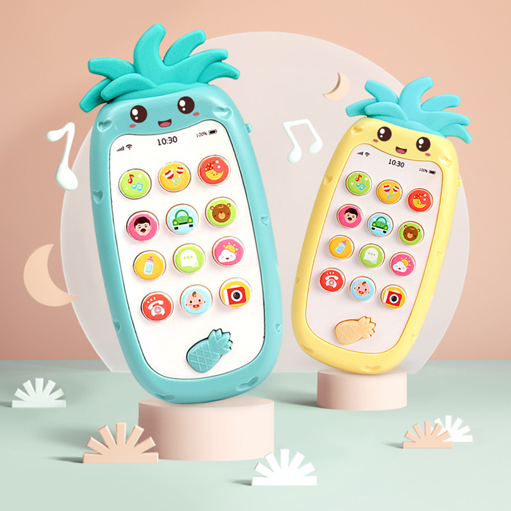 Kids Baby Music Pineapple Shape Simulation Phone  Early Learning Model Cartoon Pineapple Shape Educational Toys Gifts Supplies
