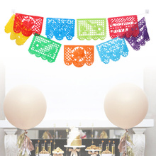 Banners Picado Papel Skeleton Square Garland-Bunting Day-Of-The-Dead-Decoration Mexican