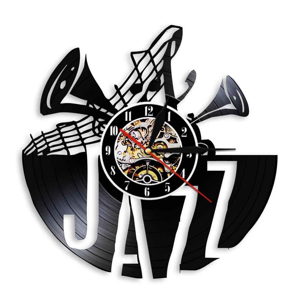 Wanduhr Jazz Trompeten Noten