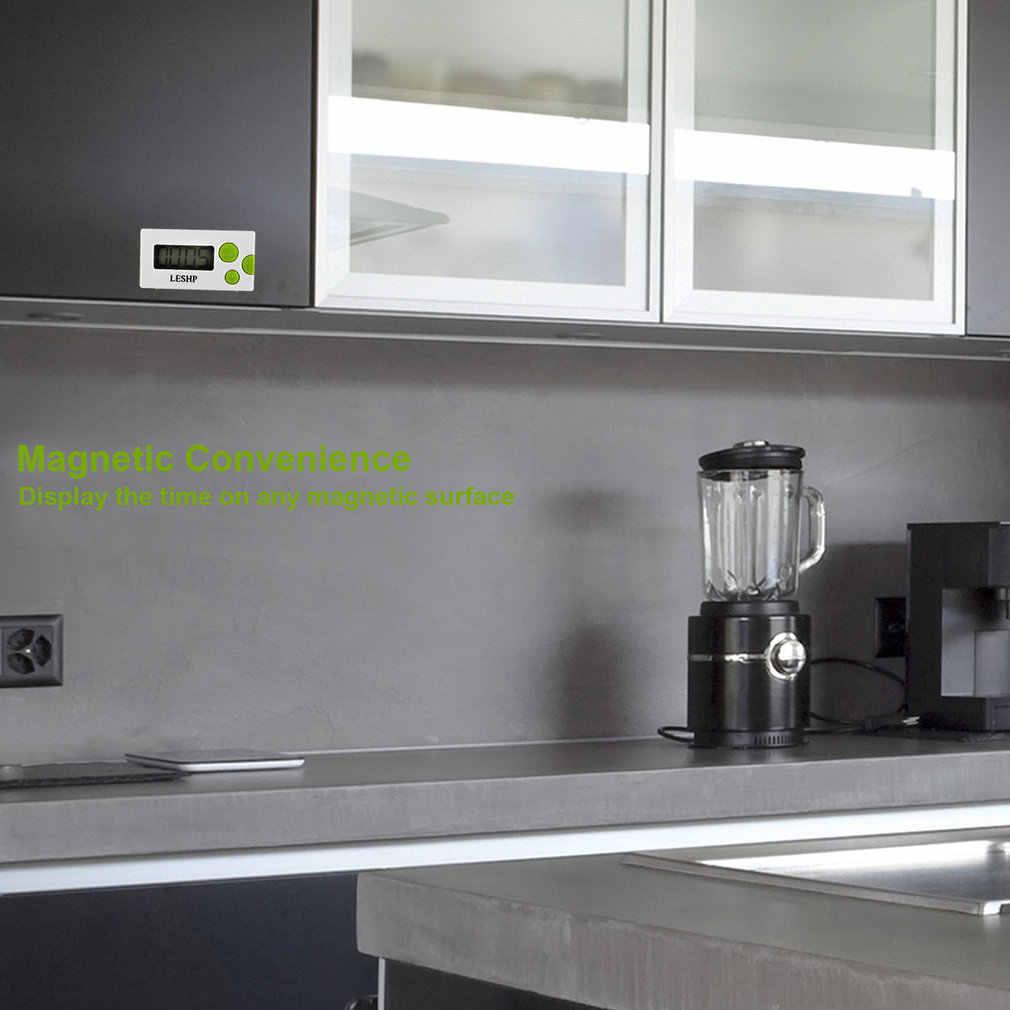 LESHP Display LCD Conteggio Digitale Imbottiture Strumento di Gadget Da Cucina Zuppa di Cottura Timer Elettronico Conteggio Imbottiture di Allarme Scrivania ClockPortable