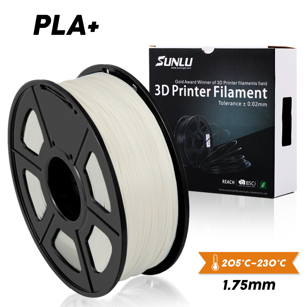 SUNLU PLA בתוספת או PLA 3D מדפסת 1.75mm נימה PLA + 3D הדפסת PLA + נימה 1KG Spool עבור 3D מדפסות & 3D עטים