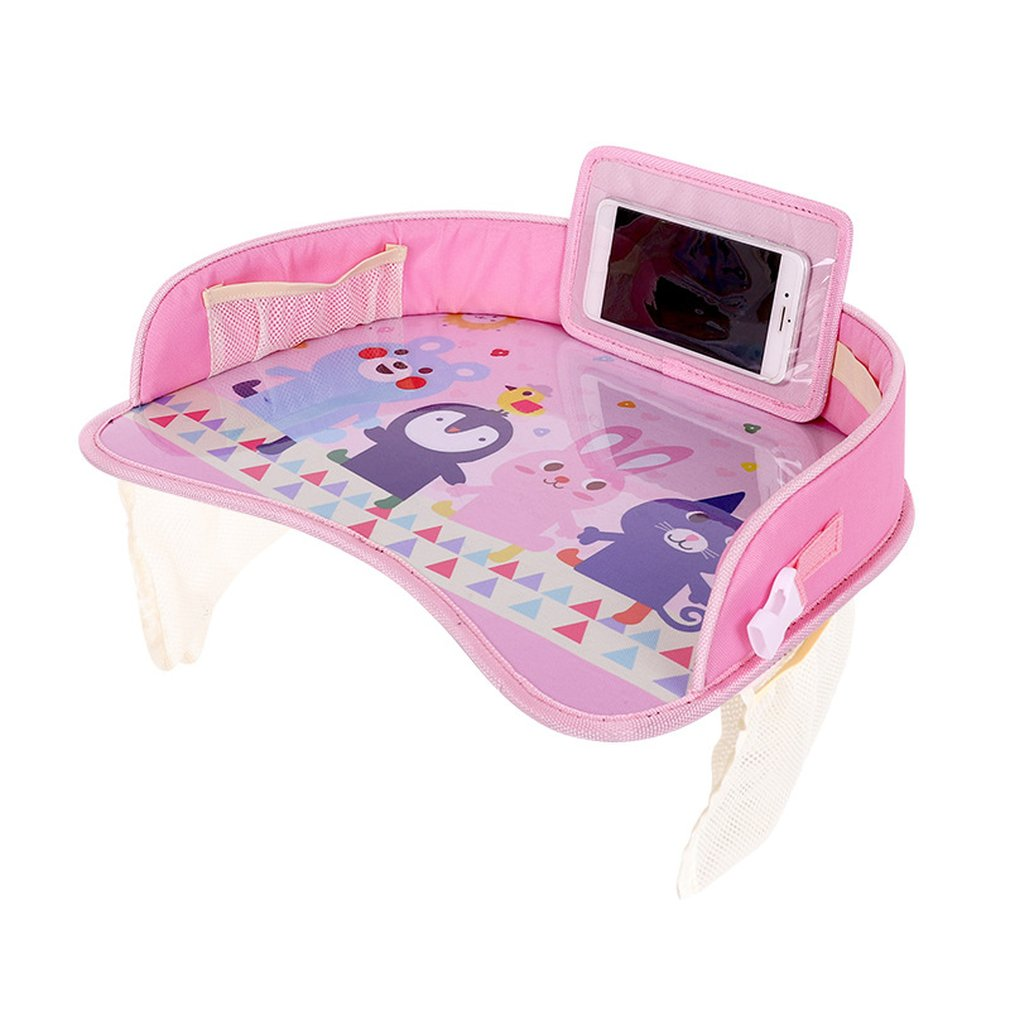 Car Baby Safety Seat Tray Child Car Storage Small Table Waterproof Pallet Multi-Function Tray Cart Oxford Cloth