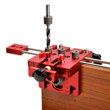 3 in 1 Woodworking Hole Drill Punch Guide Locator Positioner Jig Tool Kit Aluminium Alloy Wood Working DIY Tools