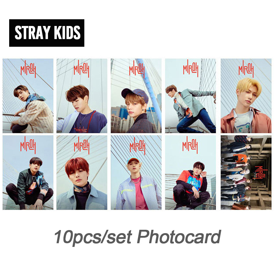 10pcs/set Kpop Stray Kids Photo Cards New Album MIROH HD Good Quality For Fans Collection Fashion Stray Kids Photocards Kpop