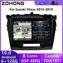 DSP 8 Core Android 10 Car Multimedia DVD Player for Suzuki Vitara 2017 2018 2019 2020 Autoradio GPS Navigation Car Radio Stereo
