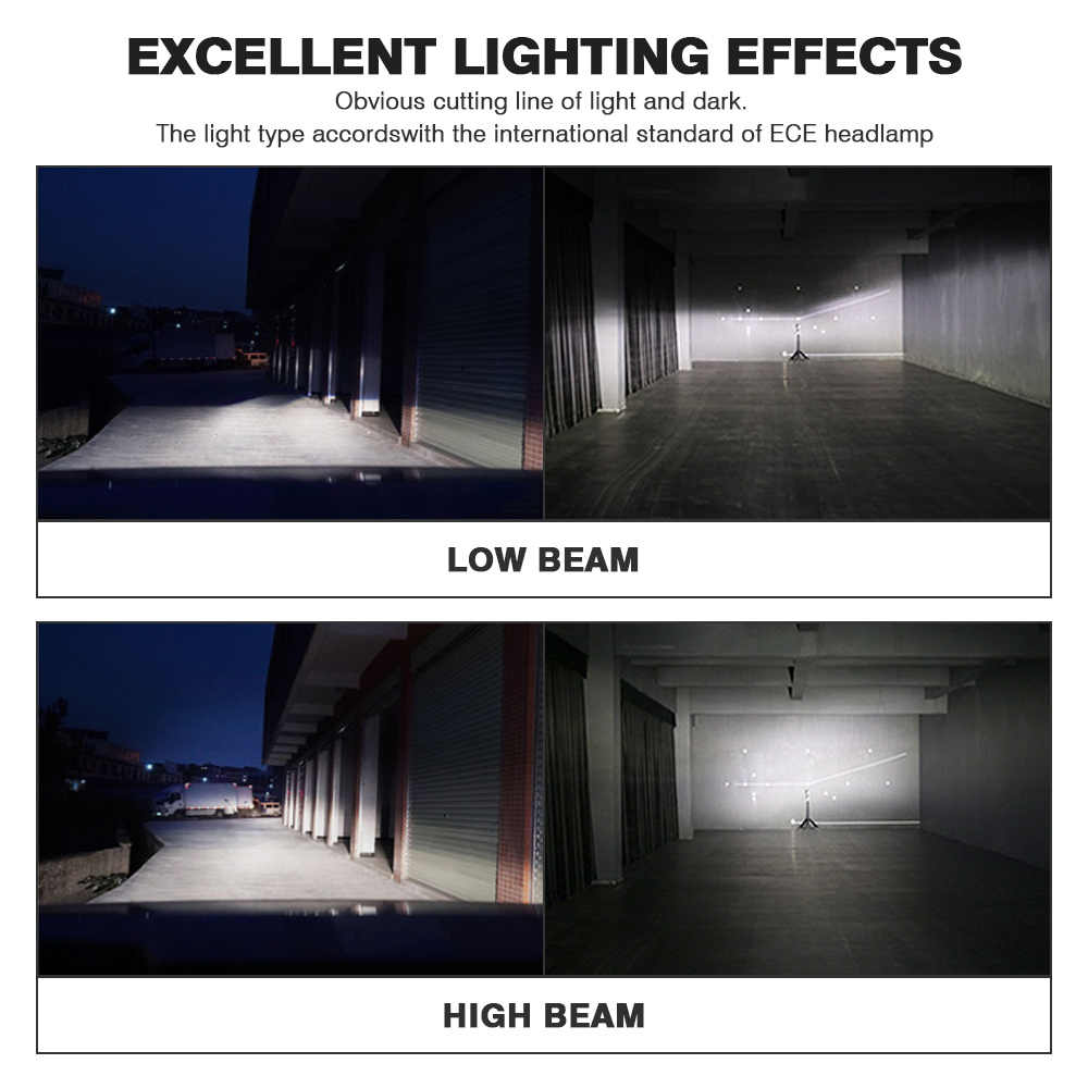 NOVSIGHT Car Headlight H4 Hi/Lo Beam LED H7 H8 H9 H11 9005/HB3 9006/HB4 100W 20000LM 6000K Auto Headlamp Fog Light Bulbs