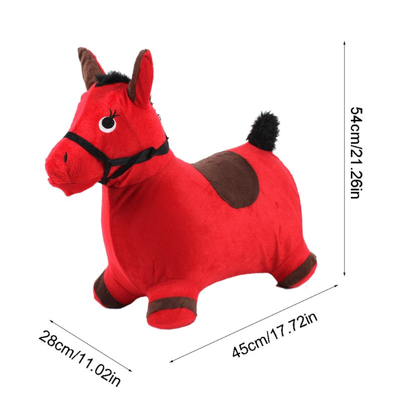 Bouncy Horse Hopper Outdoors Ride on Inflatable Animal Play Toys Gifts for Kids K4UE