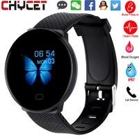 Reloj inteligente para hombre y mujer, pulsera deportiva resistente al agua, rastreador de medición de presión, Monitor de ritmo cardíaco