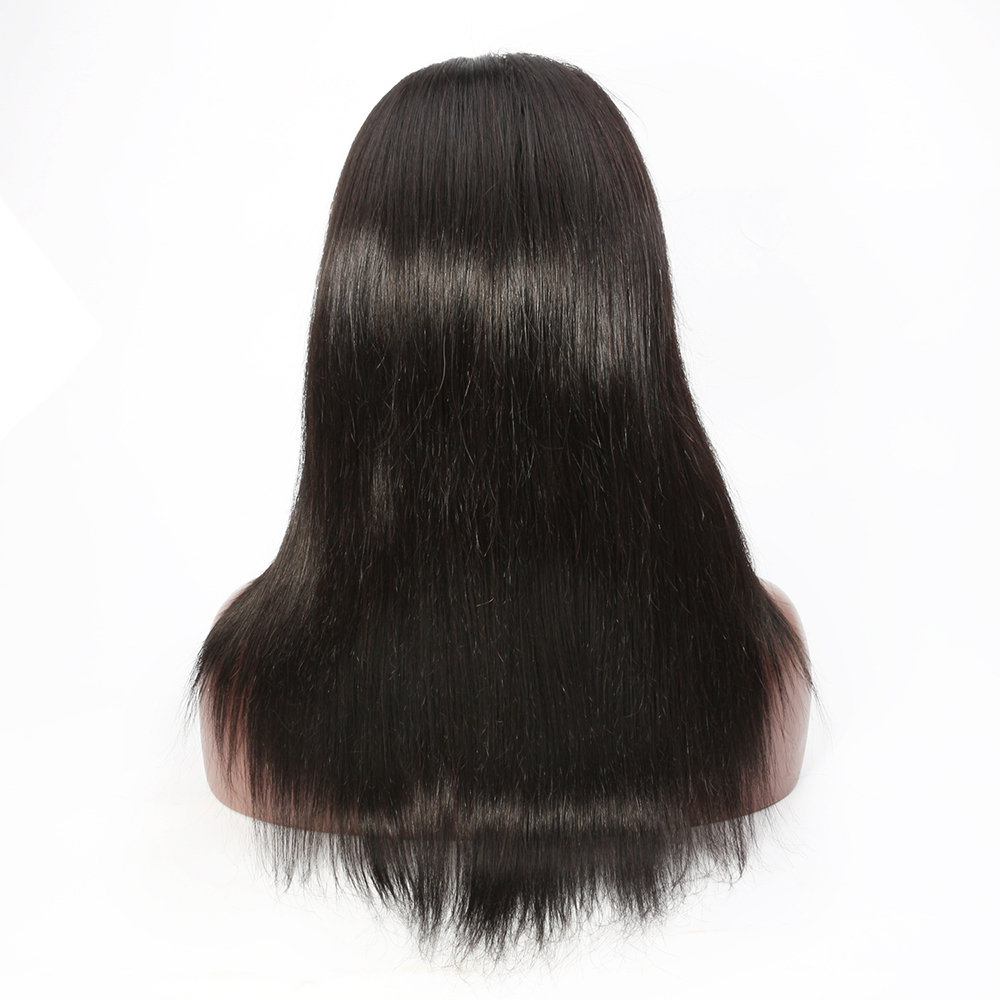 Brazilian Lace Frontal Human Hair Wigs With Baby Hair Pre-Plucked Remy Hair 130% 150% 180% Density Natural Black