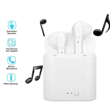 I7s Tws wireless bluetooth headset earbuds hands-free headset ear sports earphones, Mic charging box with iPhone ogv tws bluetooth v5 0 eaphone earbuds sports stereo music headset headphoe white mic charging box for apple iphone xiaomi
