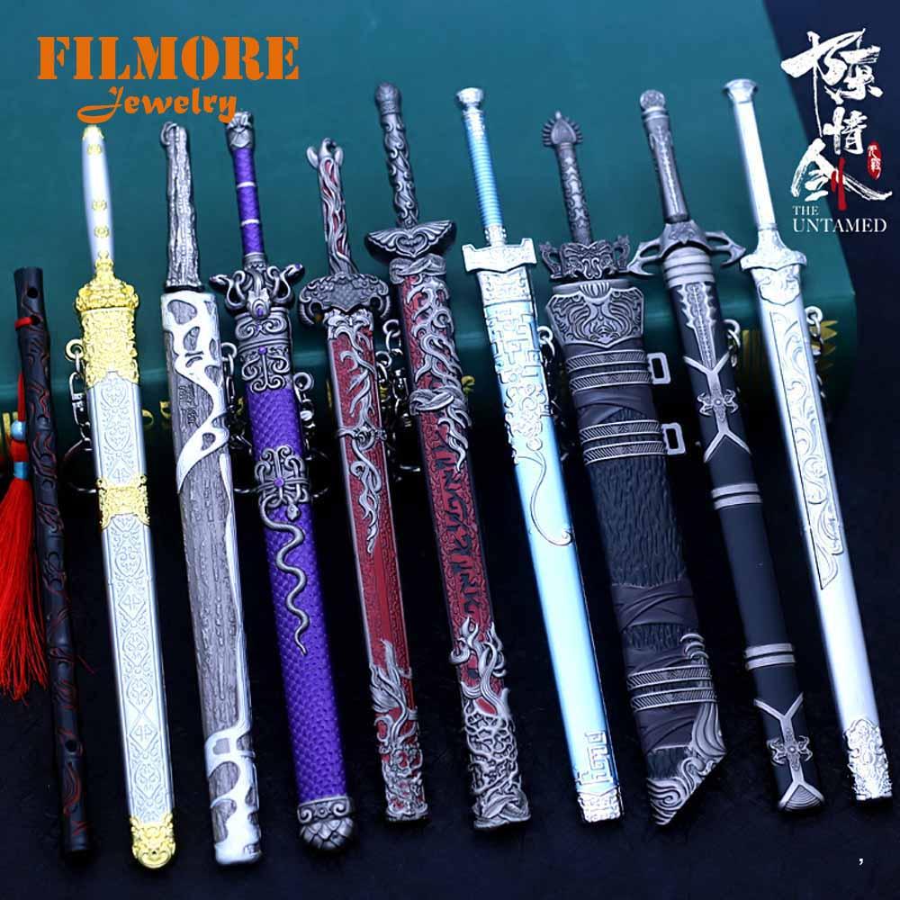22 см Mo Dao Zu Shi оружие брелок в виде меча Untamed Wei Wuxian модель оружия брелок для мужчин и женщин Шарм Кулон Ювелирные изделия лучшие подарки|Брелоки|   | АлиЭкспресс