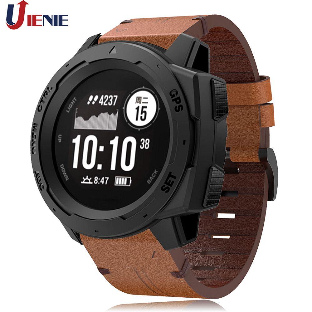 Leather Watchband Strap For Garmin Instinct/Fenix 5 /5Plus Smart Watch Bracelet Wristband Replacement Band Correa For Quatix 5