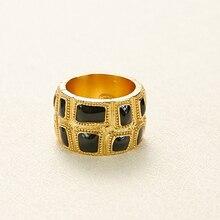Joyería de cobre de moda de marca popular para mujeres anillos de Color oro negro joyería Deisgn de Faraón egipcio anillos de Color oro claro de moda