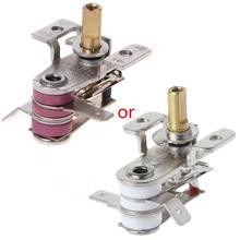 Ac 250v 16a ajustável 90 celsius interruptor de temperatura bimetálico aquecimento termostato controlador temperatura
