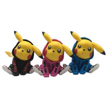 Dziecięce kawaii modne ubrania zapakowane w Pikachu ręcznie robiona zabawka prezent urodzinowy Pokémon Pokemon dekoracja samochodu akcesoria samochodowe moda tanie i dobre opinie TAKARA TOMY lalki Adult Adolesce 12 + y 7-12y 4-6y 25-36m CN (pochodzenie)