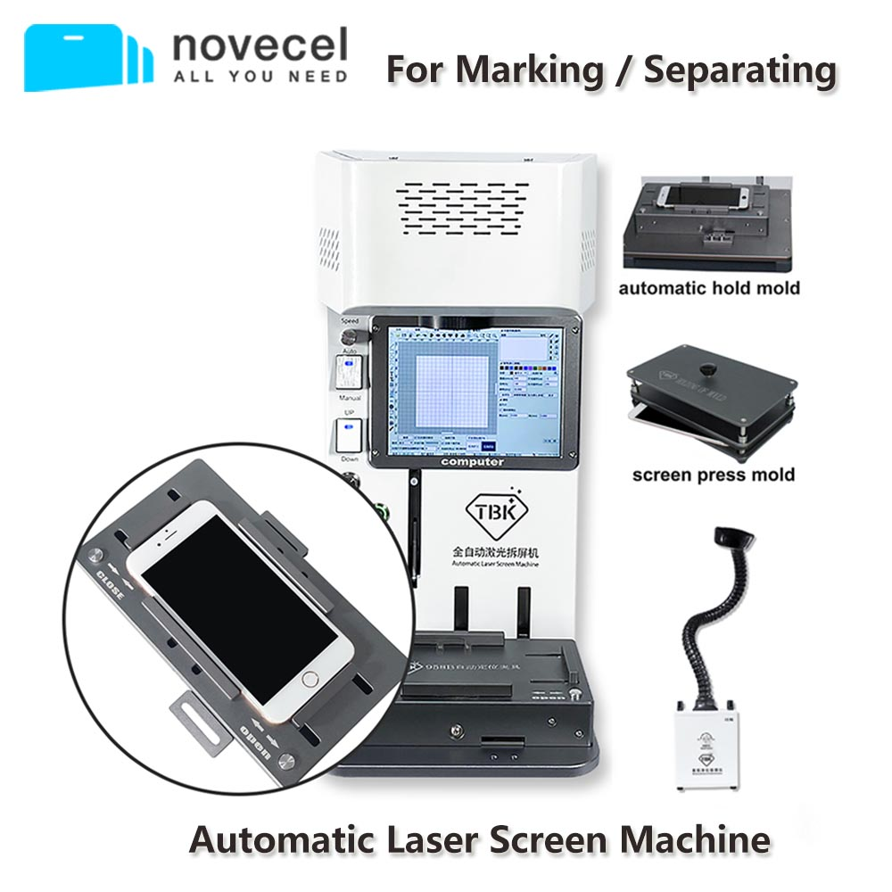 TBK Newest Laser Marking Machine Fully Autofocus For iPhone Back Cover Separator Dismantling LCD Screen Frame LOGO Engraving