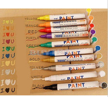 1PC Permanent Marker White Oil-Ink Mark Pens Stationery school & office supplies mark marker wood pen rock Useful