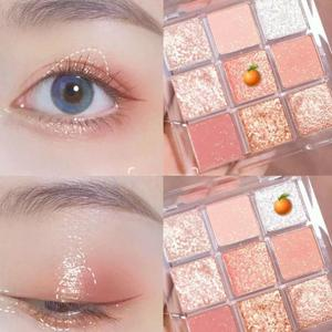 Messilo 9 Color Glitter Eyeshadow Palette Matte Sequin Shimmer Diamond Eye Shadow Make Up Long-lasting Waterproof Comestic TSLM2