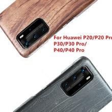 Per Huawei P40/P30/P30 Pro/P30 Lite/P20 /P20 Pro/P20 Lite noce enony In Legno In Legno di Palissandro MOGANO di Legno Della Copertura Posteriore di Caso