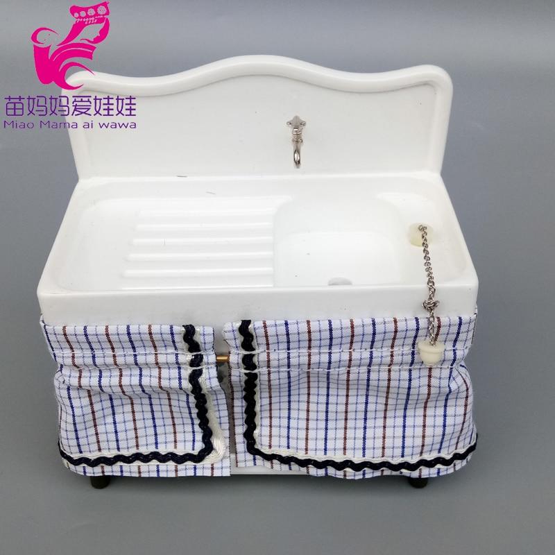 Mini Washstand Basin For Doll House Diy Use Accessories Scene Decoration For 1/12 1/8 Bjd Doll Barbie Blyth Doll Furnitrue