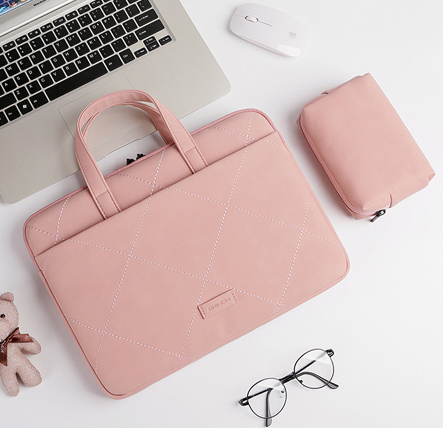 Cute Pink Laptop Sleeve Bag For Female With Free Extra Mouse Bag 6