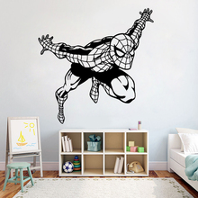 Cartoon Pattern Spiderman Wall Stickers viny Superhero kids room decor Boys Bedroom Wall Decals removable Home Decor Mural Z258 space navigation pattern removable cartoon wall stickers
