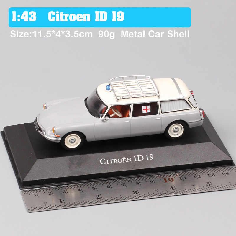 TOP Editions Atlas France Citroen ID 20 Break Ambulance Feuerwehr 1972 in 1:43