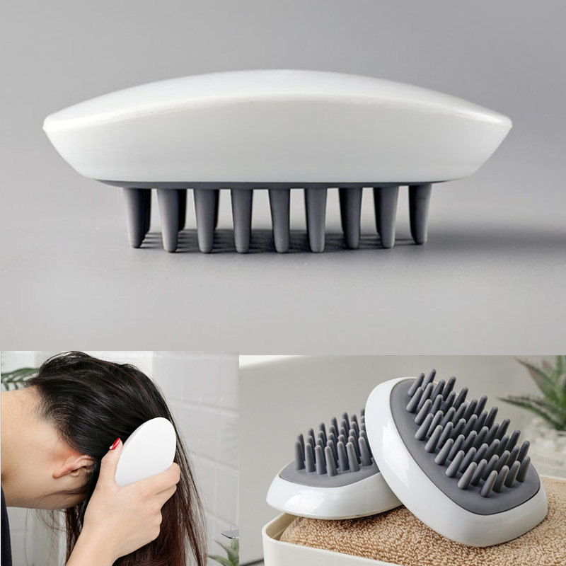 Silicone Head Hair Washing Comb Body Massager Shampoo Scalp Massage Brush Body Shower Brush Bath Spa Slimming Massage Brush