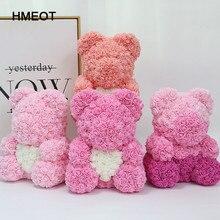 HMEOT 40cm foam rose bear artificial flower family wedding festival DIY wedding decoration gift box crafts Valentine's Day gift