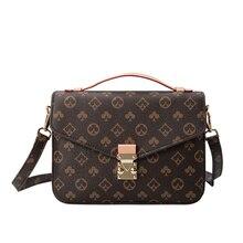 Messenger-Bag Tote-Bag Vintage-Crossbody-Bag Leather Satchel Women Fashion Luxury Brand