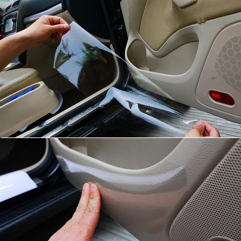 Автомобильная полиуретановая прозрачная защитная пленка от царапин 3 м, лист, наклейка на порог двери, краев краски для BMW Mazda Hyundai Honda Chevrolet