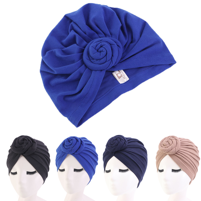 4 Colors Cotton Bonnet Salon Bonnet Night Hair Hat For Natural Curly Hair Double Elastic Bathing Sleep Women Head Cover Wrap Hat