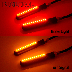 Image 5 - Universal Motorcycle Led Turn Signal Flowing Water Turn Signal & DRL Driving Lamp & Red Brake Stop Tail Light Flasher Indicators