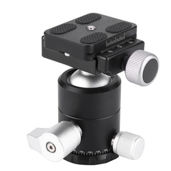 X-30S Aluminium Alloy Ball Head Tripod Head Mount, 360 Degree Rotation Panoramic Ball Head Adapter for Sony Nikon Canon Cameras