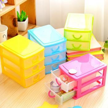 Practical Plastic Mini Small Storage Drawer Desktop Storage Box Transparent Jewelry Organizer Holder Cabinets Organizing Case недорого