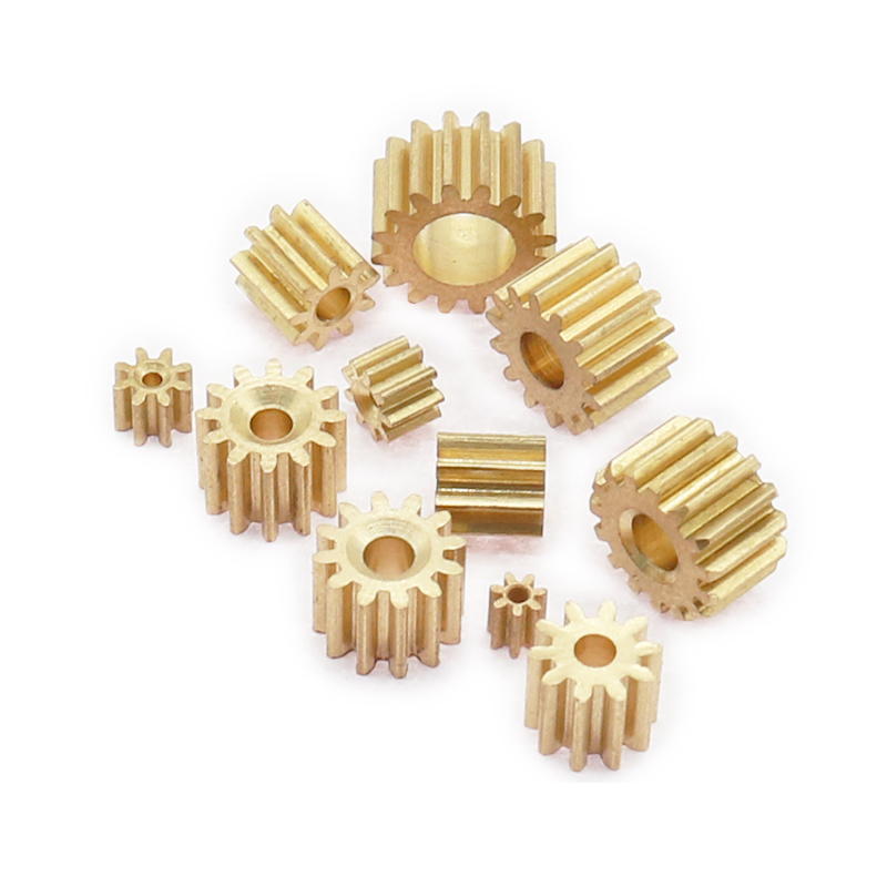 2PCS 7-16 Teeth 0.3/0.4/0.5 Modulus Metal Gear Motor Shaft Reduction Copper Gear 1mm-5mm Hole