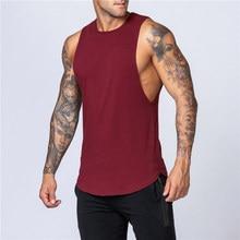 Fashion Workout Gym Heren Tank Top Vest Spier Mouwloze Sportkleding Shirt Stringer Kleding Bodybuilding Singlets Katoen Fitness