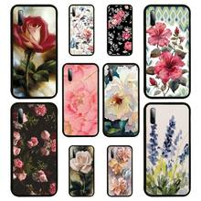 Watercolor plants with flowers Phone Case For Samsung S Note20 10 2020 S5 21 30 ultra plus A81 Cover Fundas Coque