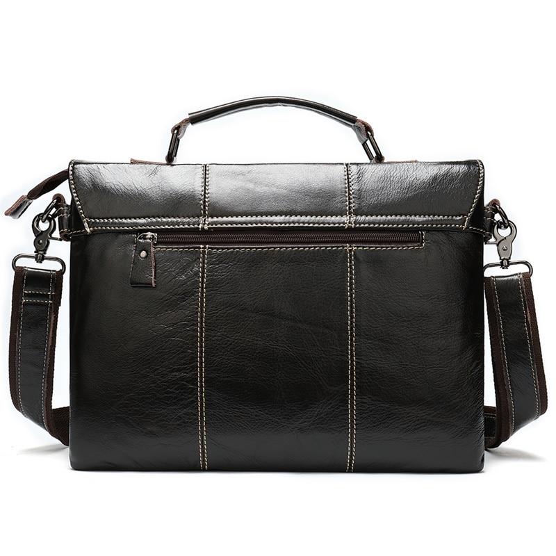 Bag Men s Briefcase Genuine Leather Office Bags for Men Leather Laptop Bags Shoulder Messenger Bag Bag Men's Briefcase Genuine Leather Office Bags for Men Leather Laptop Bags Shoulder/Messenger Bag Business Briefcase Male 7909