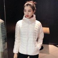 Neue Weiße Ente Unten Mit Kapuze Jacken Winter Frauen Ultraleicht Dünne Unten Jacke Langarm Warme Mantel Parka Weibliche Tragbare Outwear