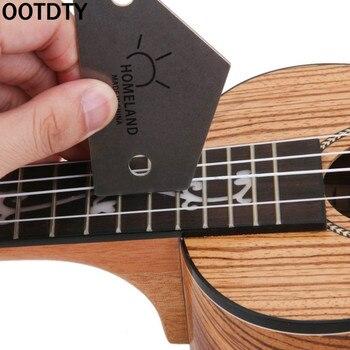 OOTDTY Fret balancín nivel herramienta triángulo regla fabricantes de acero Luthiers herramienta para guitarra suministros