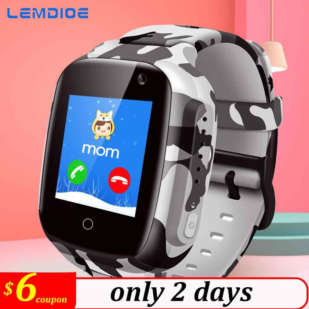 LEMDIOE New 600mAH Long standby time Kids smart watch baby with gps wifi sos IP67 waterproof for children