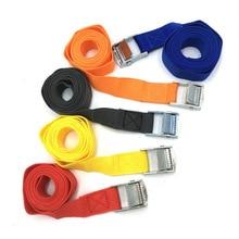2 м грузовые ремни Пряжка галстук-вниз ремень для подставки-держатели для портативных устройств с металлической пряжкой буксировочный трос прочный храповый ремень для багажа Сумка