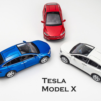 1:32 Alloy Car Model Tesla MODEL X Tesla Metal 3 Diecast Toy Vehicles Car With Pull Back Flashing Musical For Baby Gifts 1 32 scale car model x90 tesla alloy 1 32 diecast model car w sound