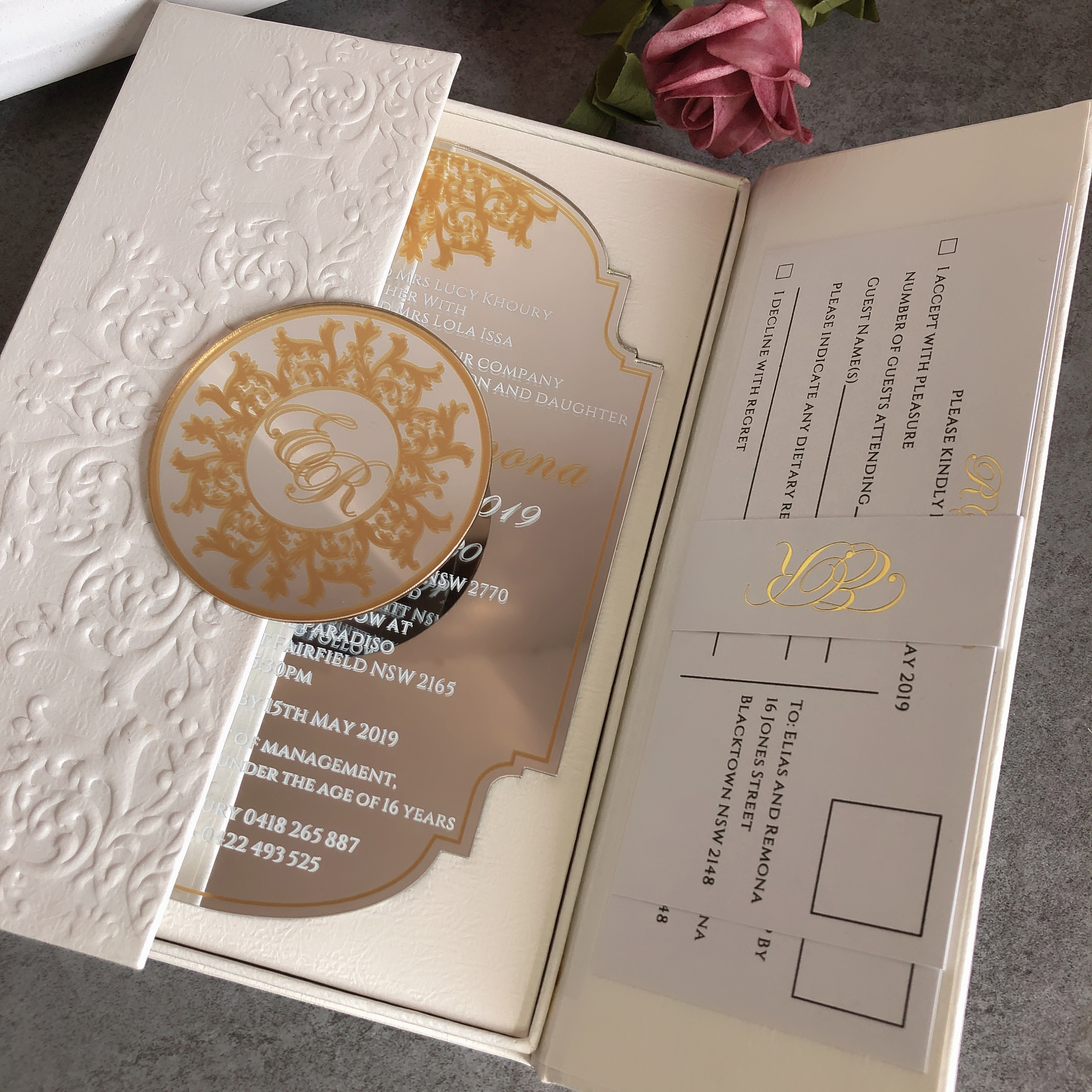 50 Personalized Custom Embossed Wedding invitation cards Luxury Wedding  Invitation cards with boxes|Cards & Invitations| - AliExpress