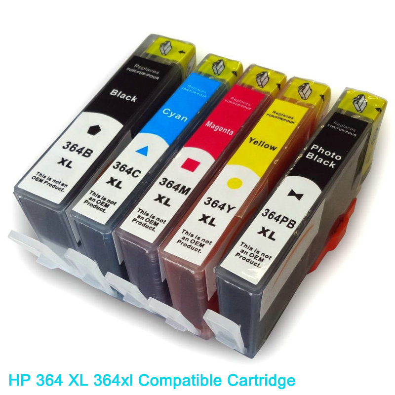Vilaxh compatible Ink Cartridge replacement for <font><b>hp</b></font> <font><b>364</b></font> XL 364xl DeskJet 3070A 3520 4610 4620 5510 5520 6520 7520 7510 printer image