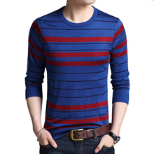 2019 Winter Men's Sweater O-Neck Striped Slim Fit Knittwear Mens Sweaters Pullovers Pull Homme Causal Sweater for Men autumn fashion brand casual sweater o neck striped slim fit mens sweaters pullovers men pull homme contrast color knitwear
