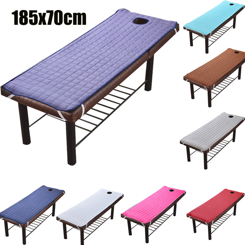 Solid Beauty Salon Massage Table Bed Sheet Skin-Friendly Massage Sheet SPA Treatment Bed Cover with Breath Hole 185*70cm
