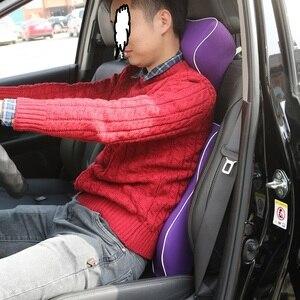Image 5 - Neck Pillow Car Seat Headrest Pillow Seat Support Lumbar Cushion Orthopedic Design Travel Pillow Memory Foam Relieve Pain