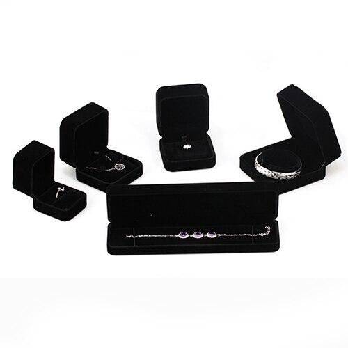 Black Velvet Ring Box/Watch Box/Necklace Box/Bracelet Box/Bangle Box/Pendant Box/Jewelry Case/ Ear Studs Earrings Box/Gift Boxes